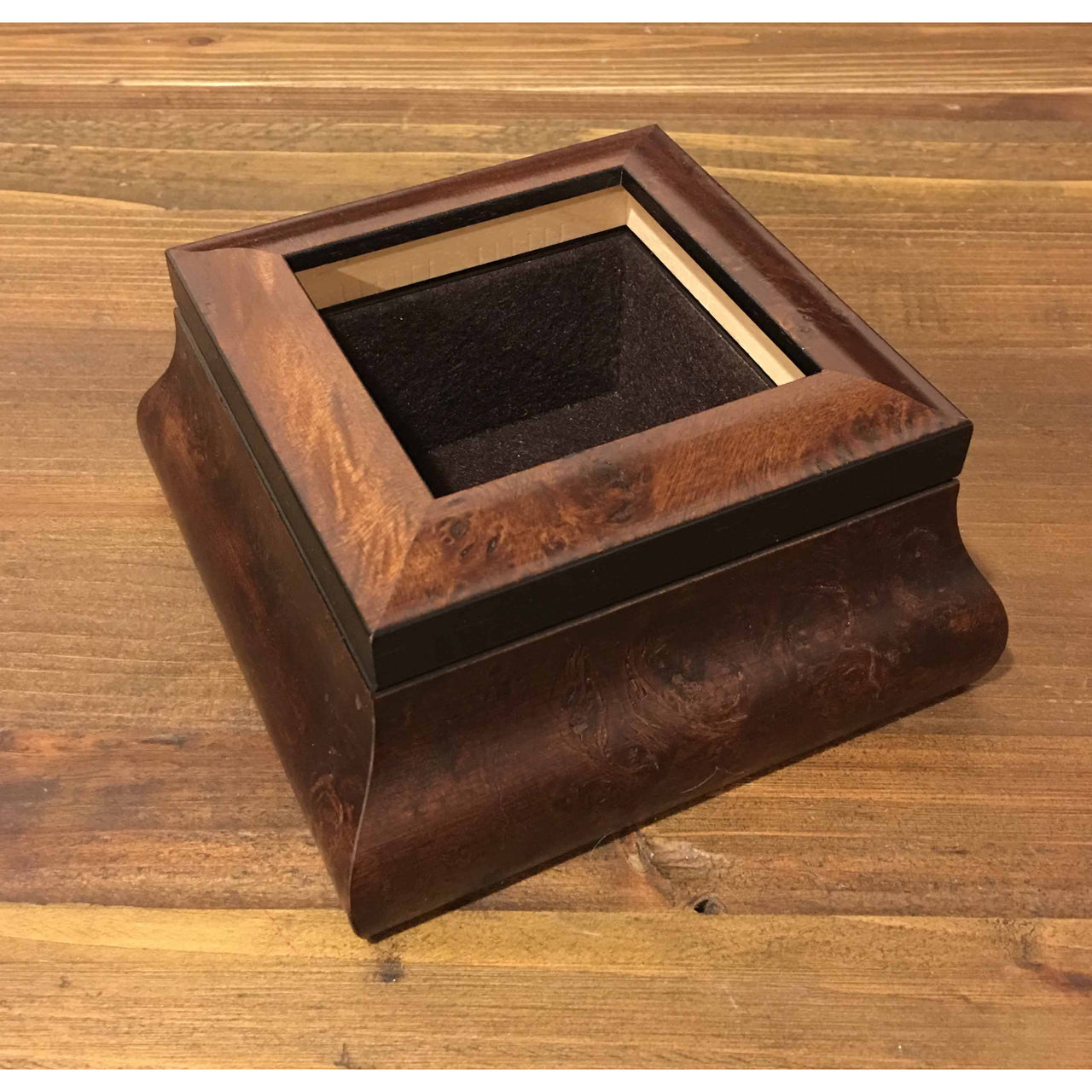 Dark Burl Needlework Treasure Box 3 x 3