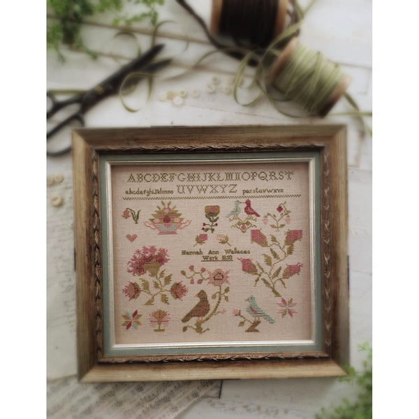 Hannah Ann Wallace 1850 Sampler Pattern ~ Available Early March