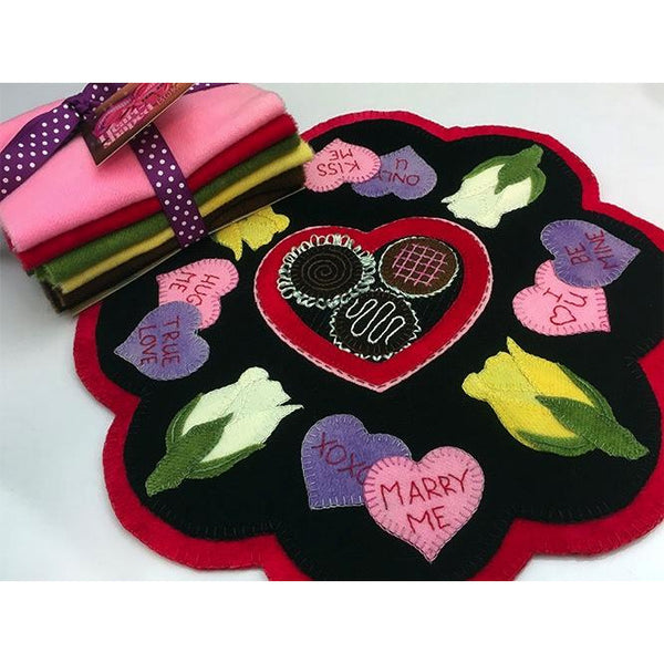 Heart-Shaped Box Wool Applique Pattern