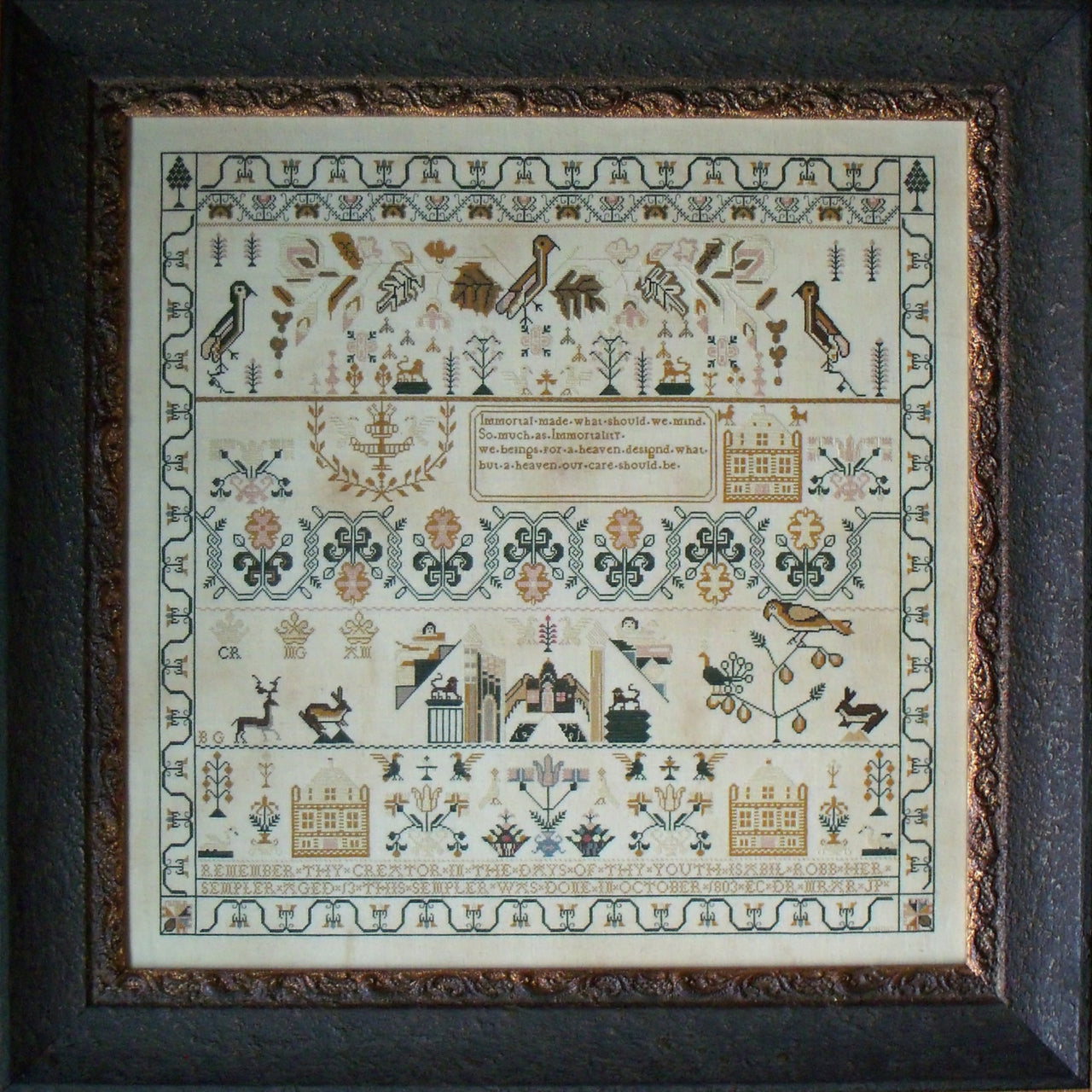 Isabill Robb 1803 Reproduction Sampler Pattern