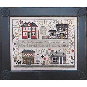 Jenny Bean Friendship Sampler Cross Stitch Pattern