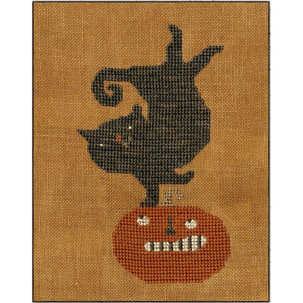 Kitty on Jack Cross Stitch Pattern
