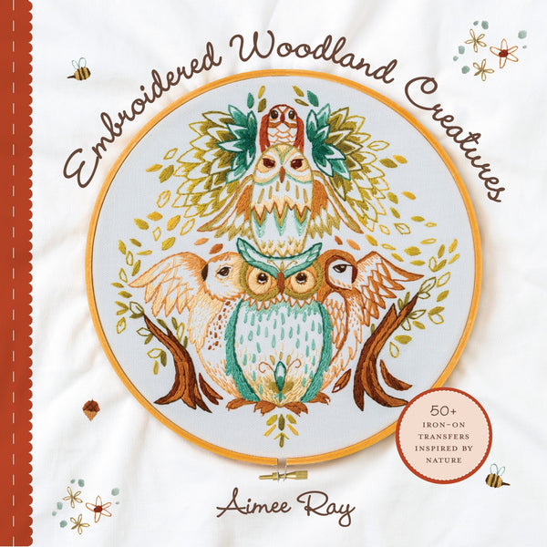 Embroidered Woodland Creatures Iron-On Transfer Pack
