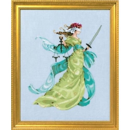 Lady Justice Cross Stitch Pattern