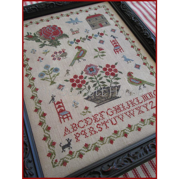 Little Red Chair Sampler Cross Stitch Pattern