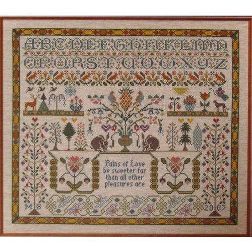 Pains of Love Sampler Cross Stitch Pattern