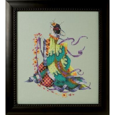 Miss Dancing Flower Cross Stitch Pattern