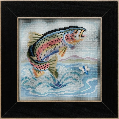 Buttons & Beads ~ Rainbow Trout Cross Stitch Kit