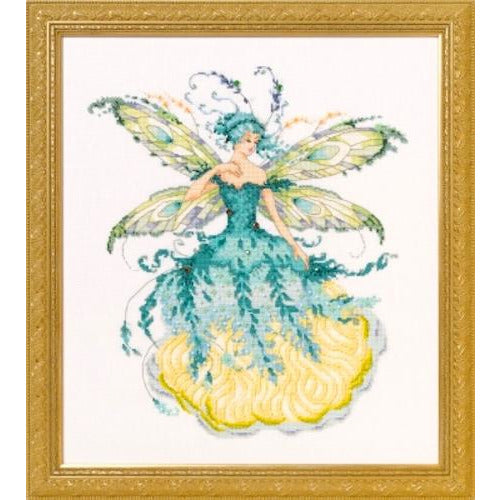 March Aquamarine Fairy Cross Stitch Pattern
