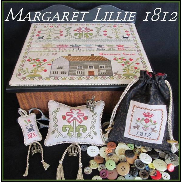 Margaret Lillie 1812 Sampler Cross Stitch Pattern
