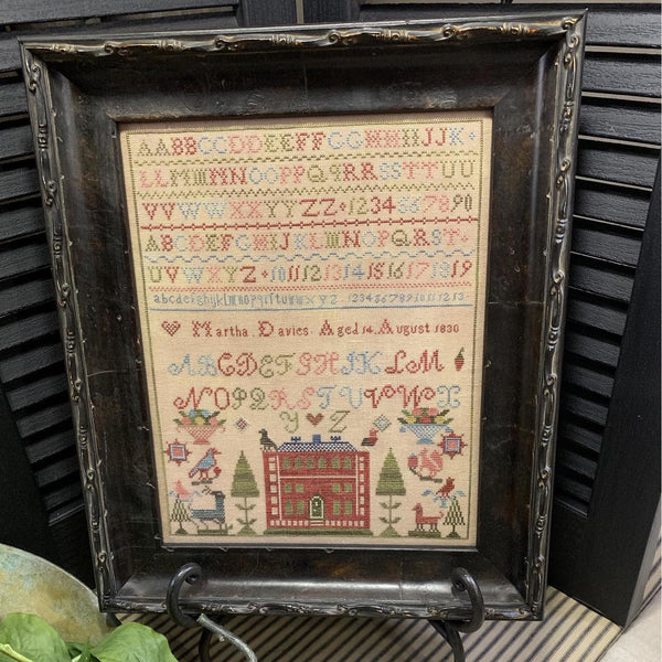 Martha Davies 1830 Reproduction Sampler Pattern
