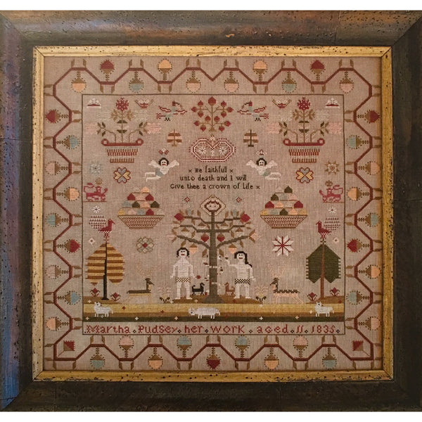 Martha Pudsey 1835 Sampler Cross Stitch Pattern