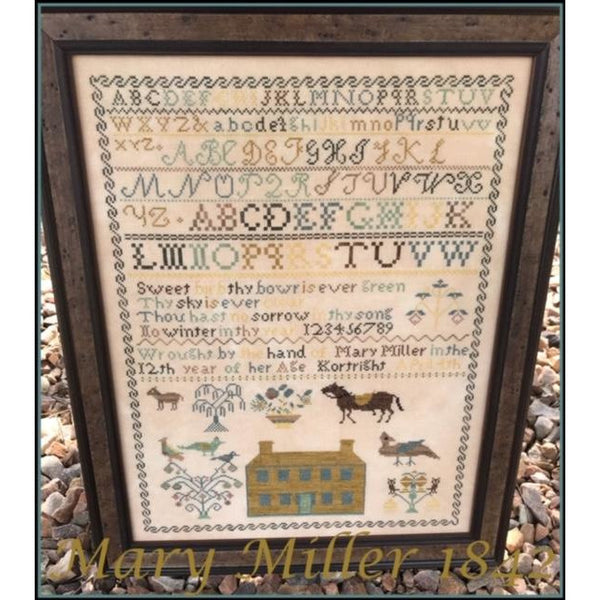 Mary Miller 1842 Reproduction Sampler Pattern