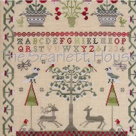 Mary Betchell 1810 Reproduction Sampler Cross Stitch Pattern