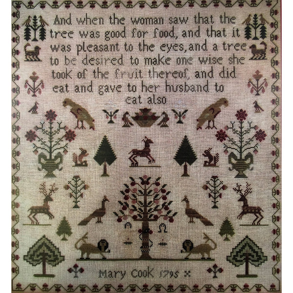 Mary Cook 1795 Sampler Cross Stitch Pattern