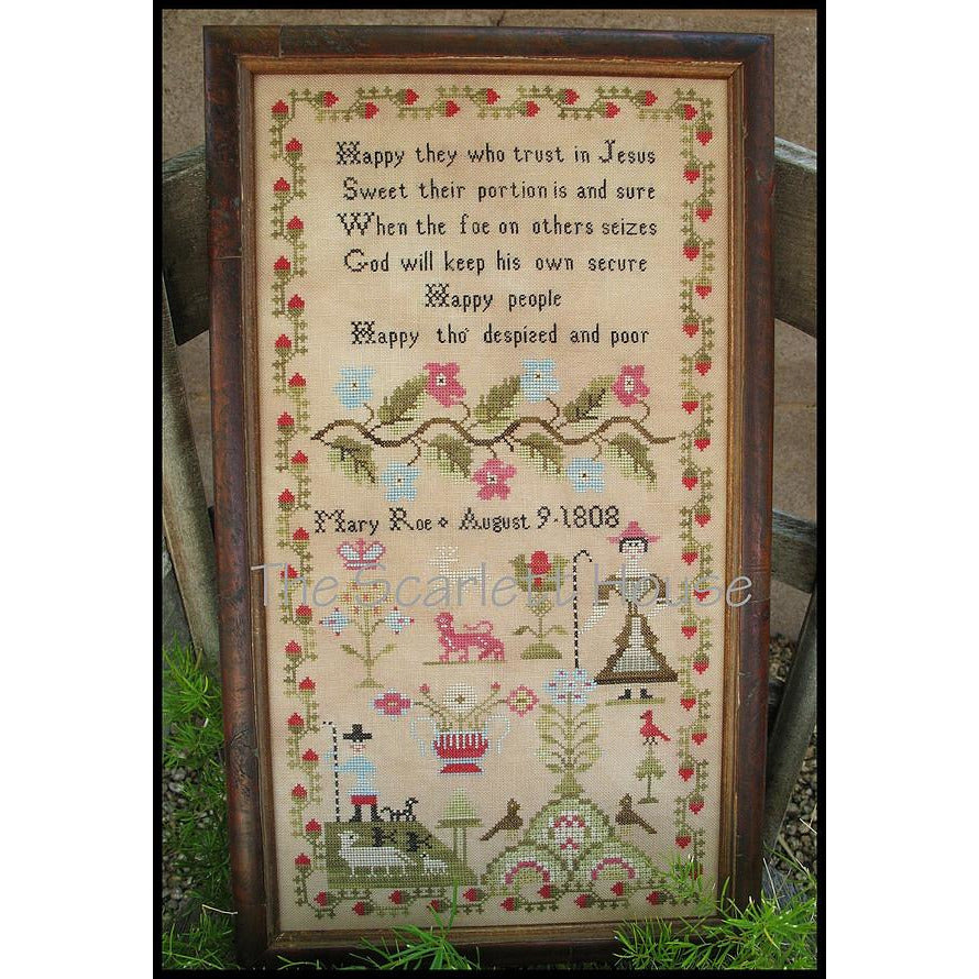 Mary Roe 1808 Reproduction Sampler Pattern