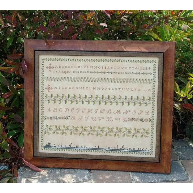 Maria Simoncini 1806 Reproduction Sampler Pattern