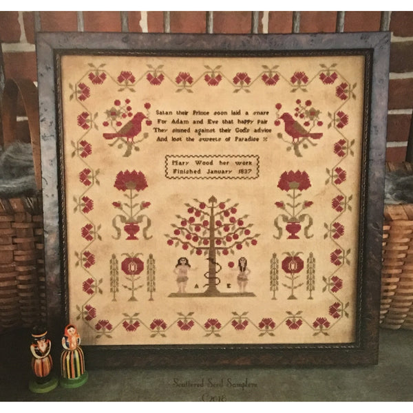 Mary Wood 1837 Reproduction Sampler Cross Stitch Pattern