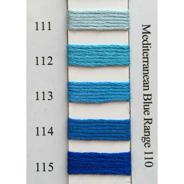 Colors 111 - 115 Mediterranean Blue Range