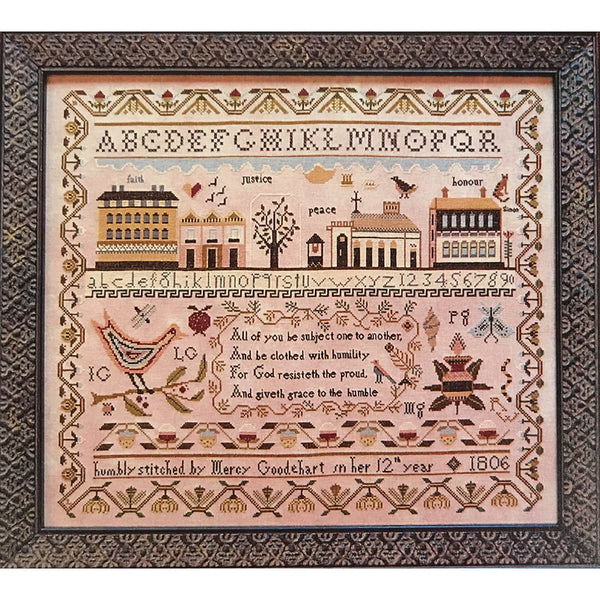 Mercy Goodehart's Sampler Cross Stitch Pattern