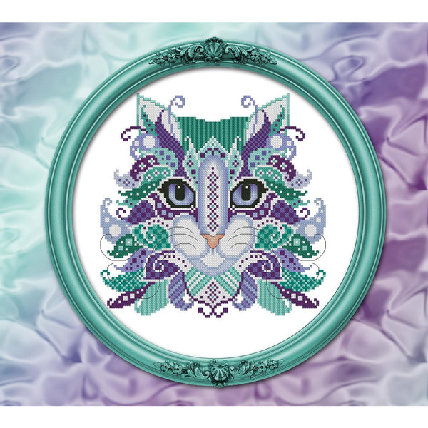 Colorful Cats - Mermaid Pattern