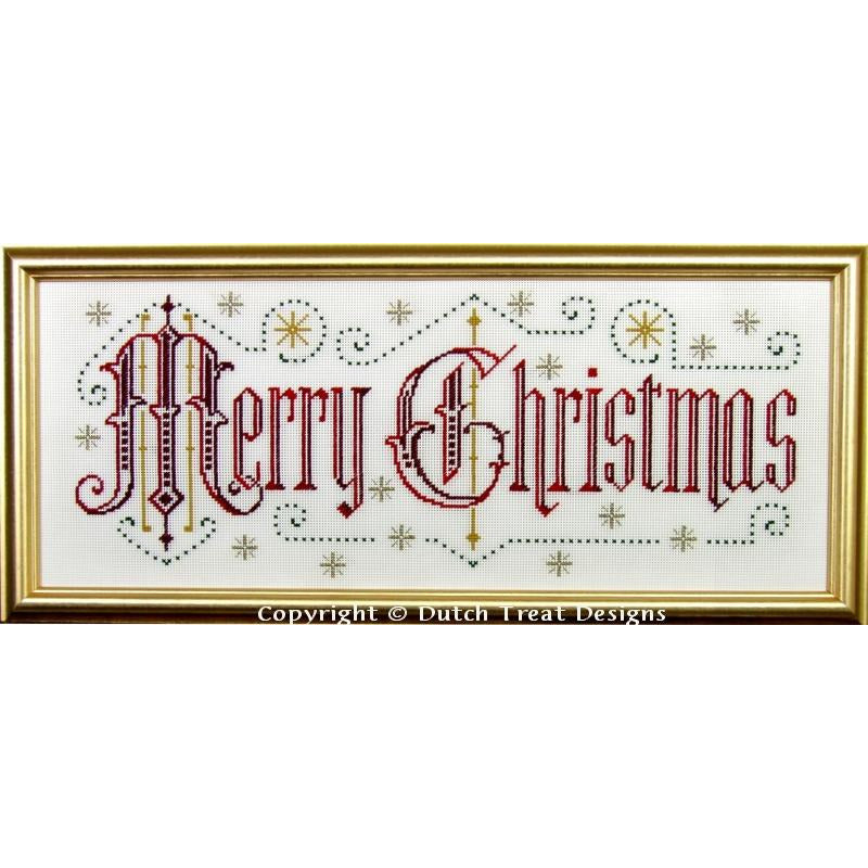 Merry Christmas Victorian Motto Pattern