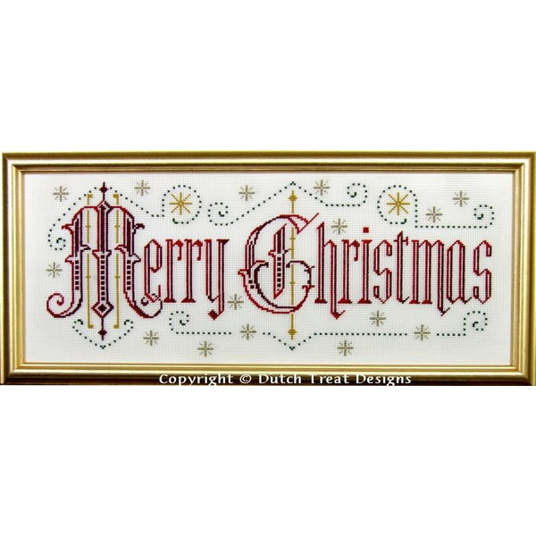 Merry Christmas Victorian Motto Cross Stitch Pattern