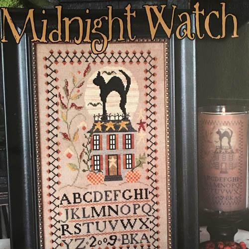 Midnight Watch Halloween Sampler Cross Stitch Pattern