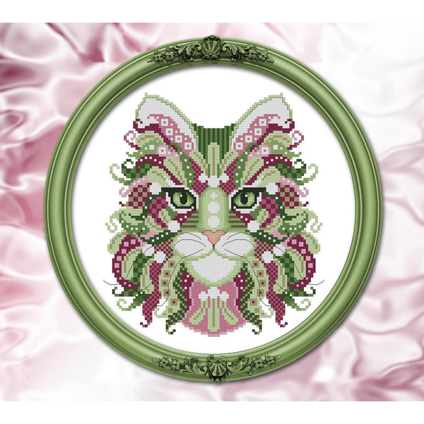 Colorful Cats - Mistletoe Pattern