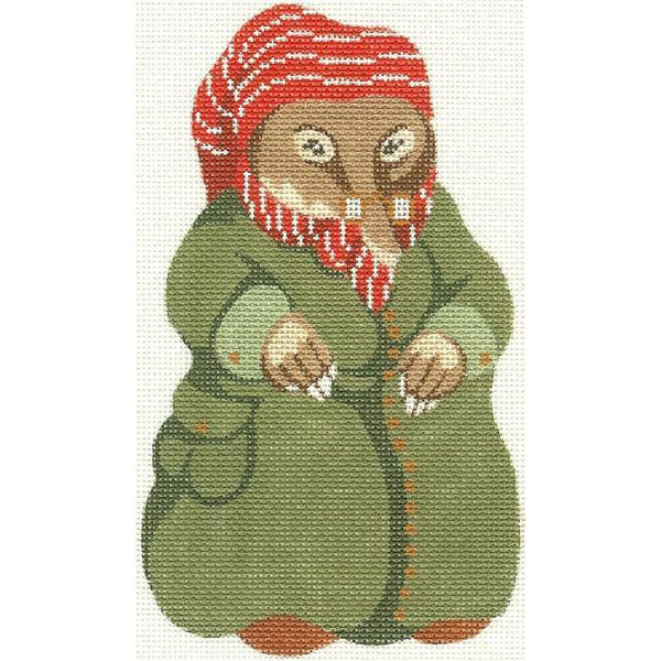 Mole Ornament Needlepoint Canvas