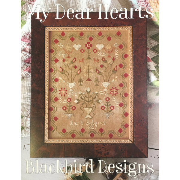 My Dear Hearts Sampler Cross Stitch Pattern