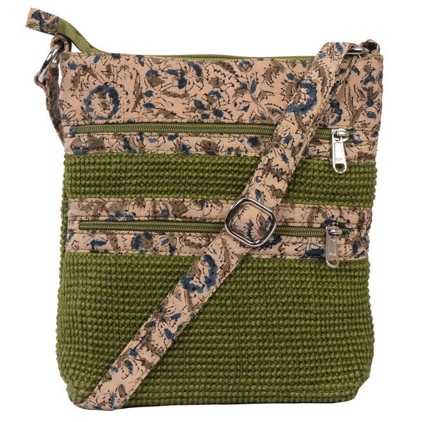 Project Bag - Olive Green Jute Myly