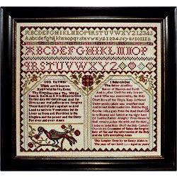 Nancy Alden 1795 Reproduction Sampler Cross Stitch Pattern