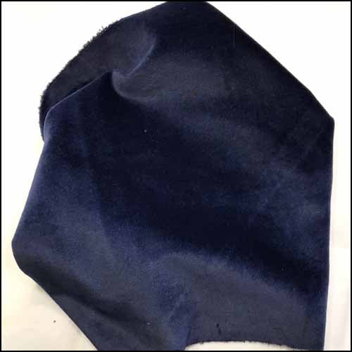 Navy Bean 100% Cotton Hand-Dyed Velveteen - Fat Eighth