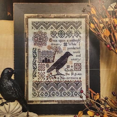 Nevermore Quaker Sampler Cross Stitch Pattern