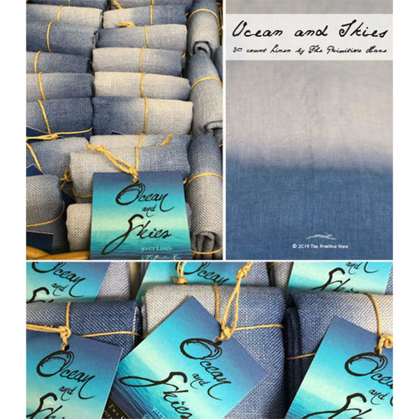 30 ct. Ocean and Skies Linen