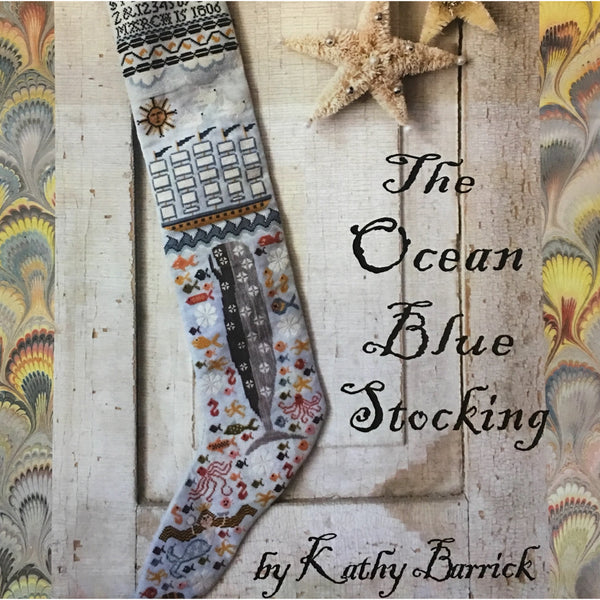 The Ocean Blue Stocking Cross Stitch Pattern