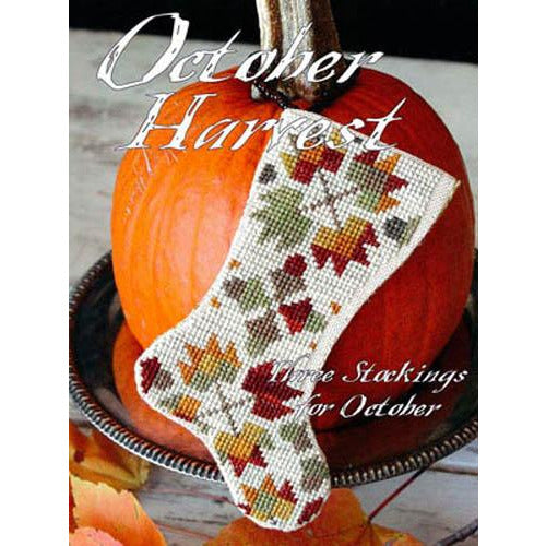 October Harvest Stockings Cross Stitch Pattern