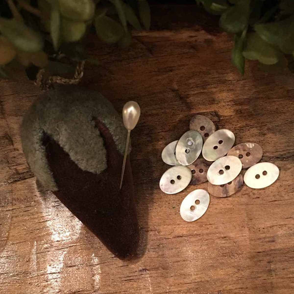 Mother of Pearl Mini-Oval Buttons