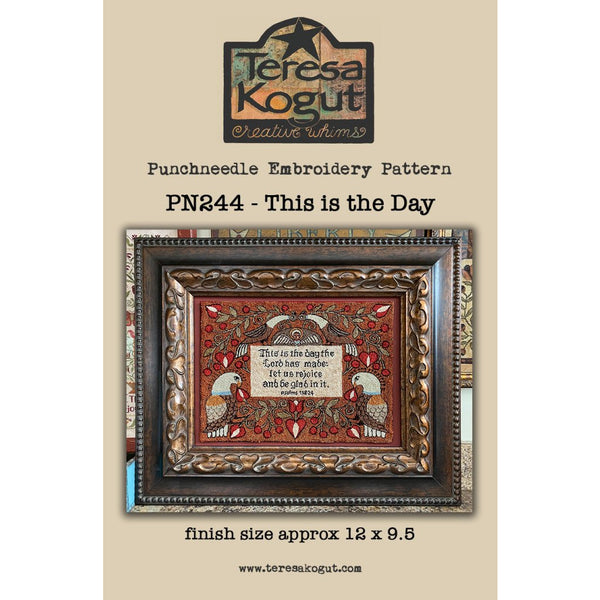 Teresa Kogut ~ This is the Day Punchneedle Pattern EXPO PRE-ORDER