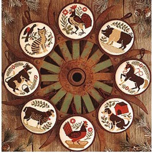 Barnyard Christmas Pattern - REPRODUCTION