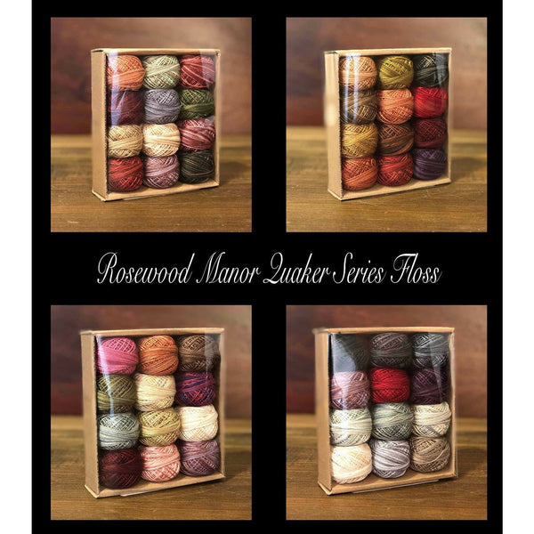 Rosewood Manor Quakers Sampler Valdani Floss Pack
