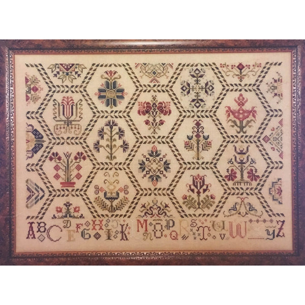 Parchment Tapestry Sampler Cross Stitch Pattern