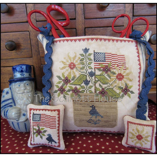 Patriotic Scissor Pocket Cross Stitch Pattern