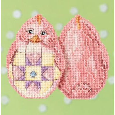 Pink Chick Cross Stitch Kit