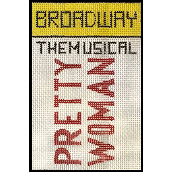 Pretty Woman Broadway Playbill Needlepoint Canvas