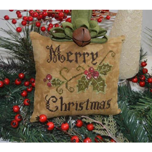 Primitive Merry Christmas Pillow Pattern
