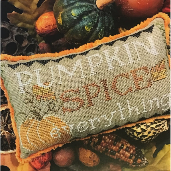 Pumpkin Spice Everything Cross Stitch Pattern