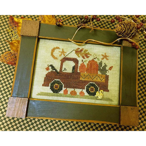 Pumpkin Pickin' Truck Cross Stitch Pattern