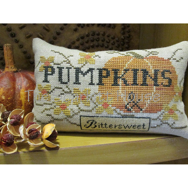 Pumpkins & Bittersweet Cross Stitch Pattern